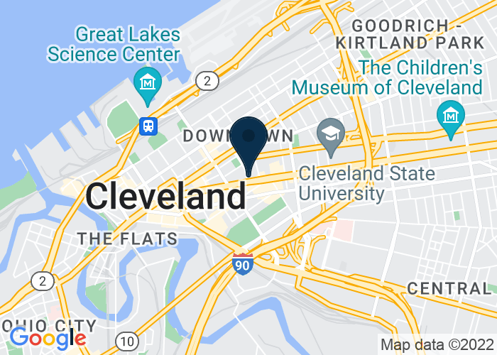 Map of 1211 Euclid Avenue, Cleveland, OH 44115