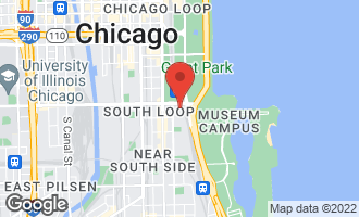 Map of 1211 South Prairie Avenue #5905 CHICAGO, IL 60605