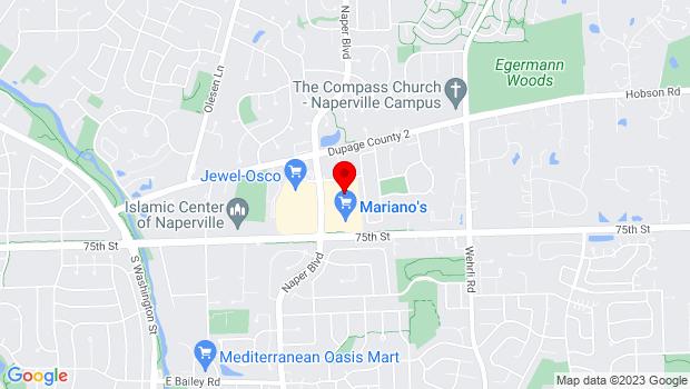Google Map of 1212 S. Naper Blvd #100, Naperville, IL 60540