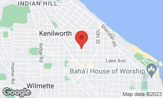 Map of 1212 Elmwood Avenue WILMETTE, IL 60091
