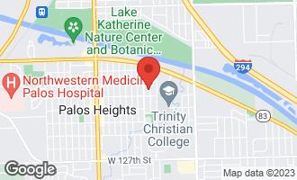 Map of 12126 South Flambeau Drive Palos Heights, IL 60463