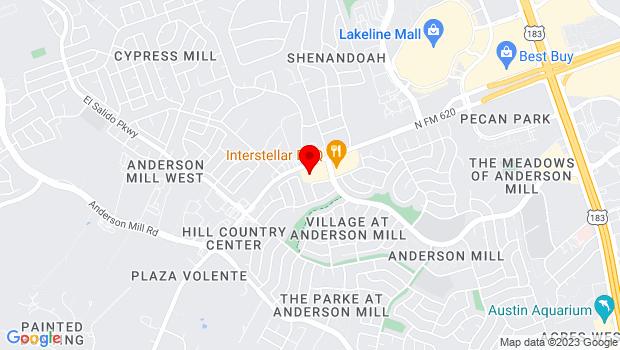 Google Map of 12129 Ranch Road 620, Austin, TX 78750
