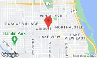 Map of 1213 West Roscoe Street CHICAGO, IL 60657