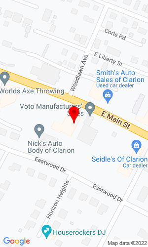 Google Map of Bobcat of Clarion 1214 East Main Street, Clarion, PA, 16214