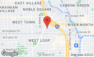 Map of 1215 West Grand Avenue 2FR CHICAGO, IL 60622