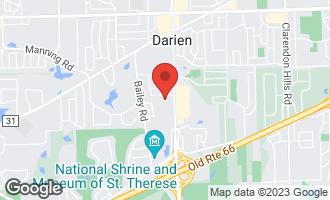 Map of 1216 Chapman Court DARIEN, IL 60561