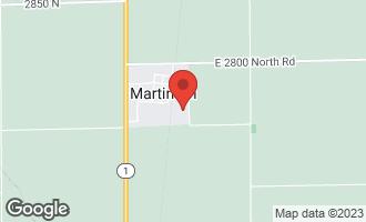 Map of 1216 Horseshoe Drive MARTINTON, IL 60951