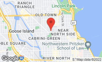 Map of 1217 North Sedgwick Street CHICAGO, IL 60610