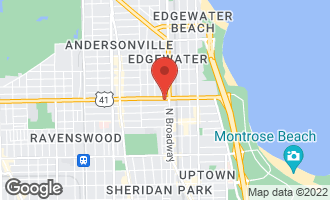 Map of 1219 West Foster Avenue 1W CHICAGO, IL 60640