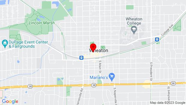 Google Map of 122 N.Hale St, Wheaton, IL 60187
