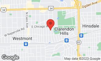 Map of 122 Tuttle Avenue CLARENDON HILLS, IL 60514