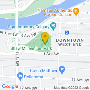 Map to Shaw Millennium Park provided by Google