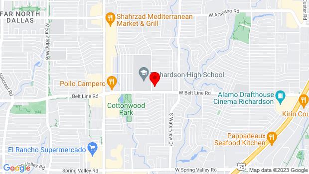 Google Map of 1220 W. Belt Line Road, Richardson, TX 75080