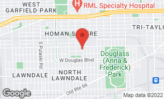 Map of 1222 South Homan Avenue #2 CHICAGO, IL 60623