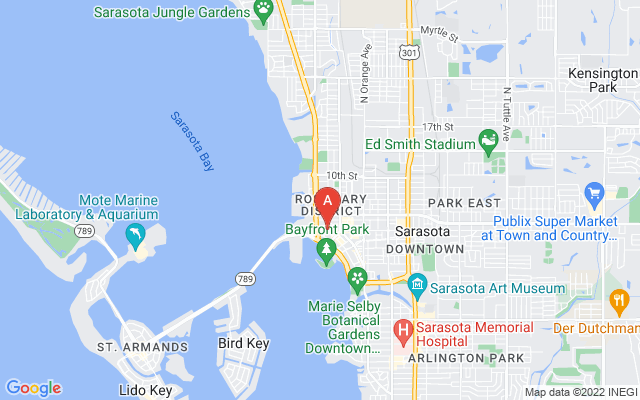 1224 Blvd Of The Arts #ph1 Sarasota Florida 34236 locatior map