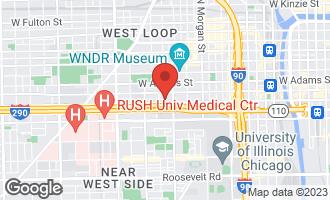 Map of 1224 West Van Buren Street #709 CHICAGO, IL 60607