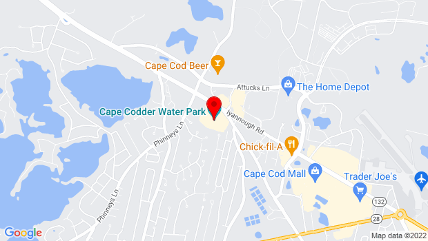 Google Map of 1225 Iyannough Road, Hyannis, MA 02648