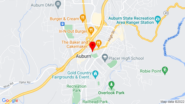 Google Map of 1225 Lincoln Way, Auburn, CA 95603