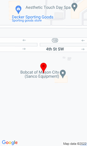 Google Map of Bobcat of Mason City 12251 B 265Th Street, Mason City, IA, 50401