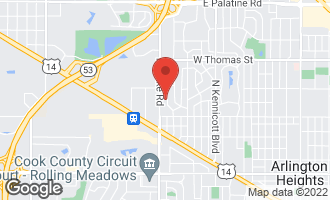 Map of 1226 North Race Avenue ARLINGTON HEIGHTS, IL 60004