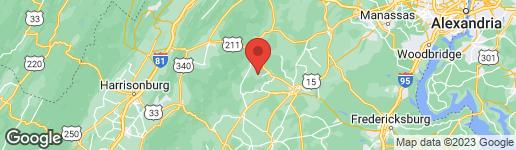 Map of 12261 MAJOR BROWN DRIVE SPERRYVILLE, VA 22740