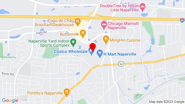 Google Map of 1227 E Ogden Ave, Naperville, IL 60563