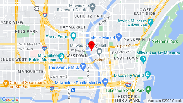 Google Map of 123 E State Street, Milwaukee, WI 53202