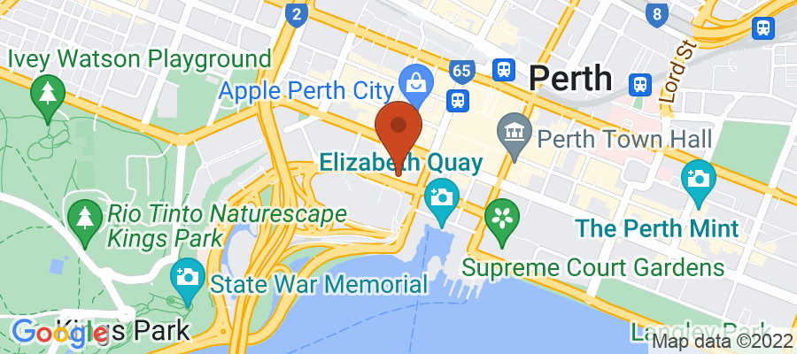 Map for 123 St Georges Terrace, Perth WA 6000, Australia