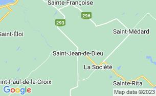 Map of Camping Saint-Jean-De-Dieu