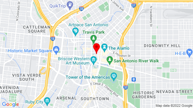 Google Map of 123 Losoya Street, San Antonio, TX 78205