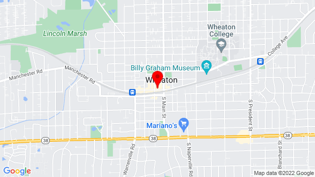 Google Map of 123 West Front Street, Wheaton, IL 60187