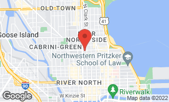 Map of 123 West Oak Street E/F Chicago, IL 60610