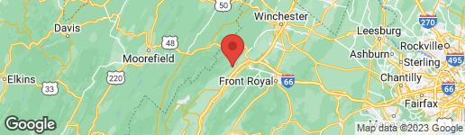 Map of 12335 BACK ROAD TOMS BROOK, VA 22660