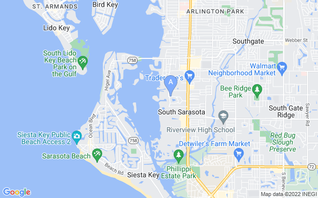 1235 N Lake Shore Dr Sarasota Florida 34231 locatior map