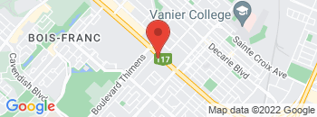 Google Map of 1236+Boul+Marcel-Laurin%2CSaint-Laurent%2CQuebec+H4R+1J7