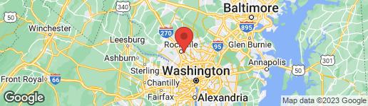 Map of 1236 CLAGETT DRIVE ROCKVILLE, MD 20851