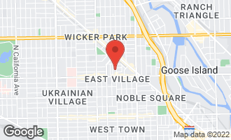 Map of 1236 North Wood Street CHICAGO, IL 60622