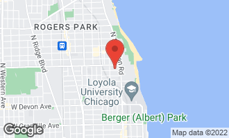 Map of 1236 West Columbia Avenue 2E CHICAGO, IL 60626