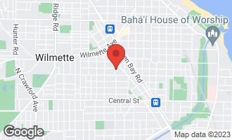 Map of 124 Park Avenue WILMETTE, IL 60091