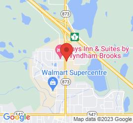 Google Map of 1240+-+2nd+Street+West%2CBrooks%2CAlberta+T1R+0V5