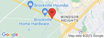 Google Map of 1240+Stewart+Blvd%2CBrockville%2COntario+K6V+7H2