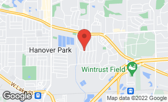 Map of 1240 Westchester Drive HANOVER PARK, IL 60133