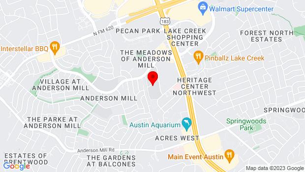 Google Map of 12400 Mellow Meadow Dr, Austin, TX 78750