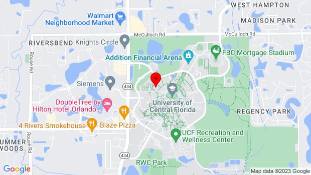 Google Map of 12405 Aquarius Agora Dr., Orlando, FL 32816