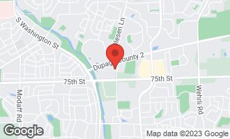 Map of 1243 Oxford Lane Naperville, IL 60540