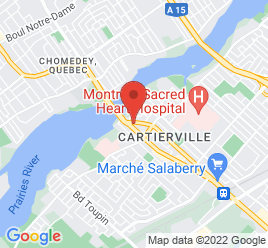 Google Map of 12435+Boul+Laurentien%2CMontreal%2CQuebec+H4K+2J2