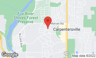 Map of 1247 Brookdale Drive CARPENTERSVILLE, IL 60110