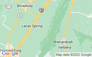 Map of Harrisonburg/Shenandoah Valley KOA
