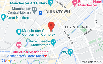 Map of 125 Portland Street, Manchester, M1 4QD