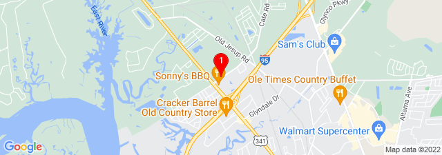 Google Map of 125 Crispen Blvd, Brunswick, GA 31525, USA